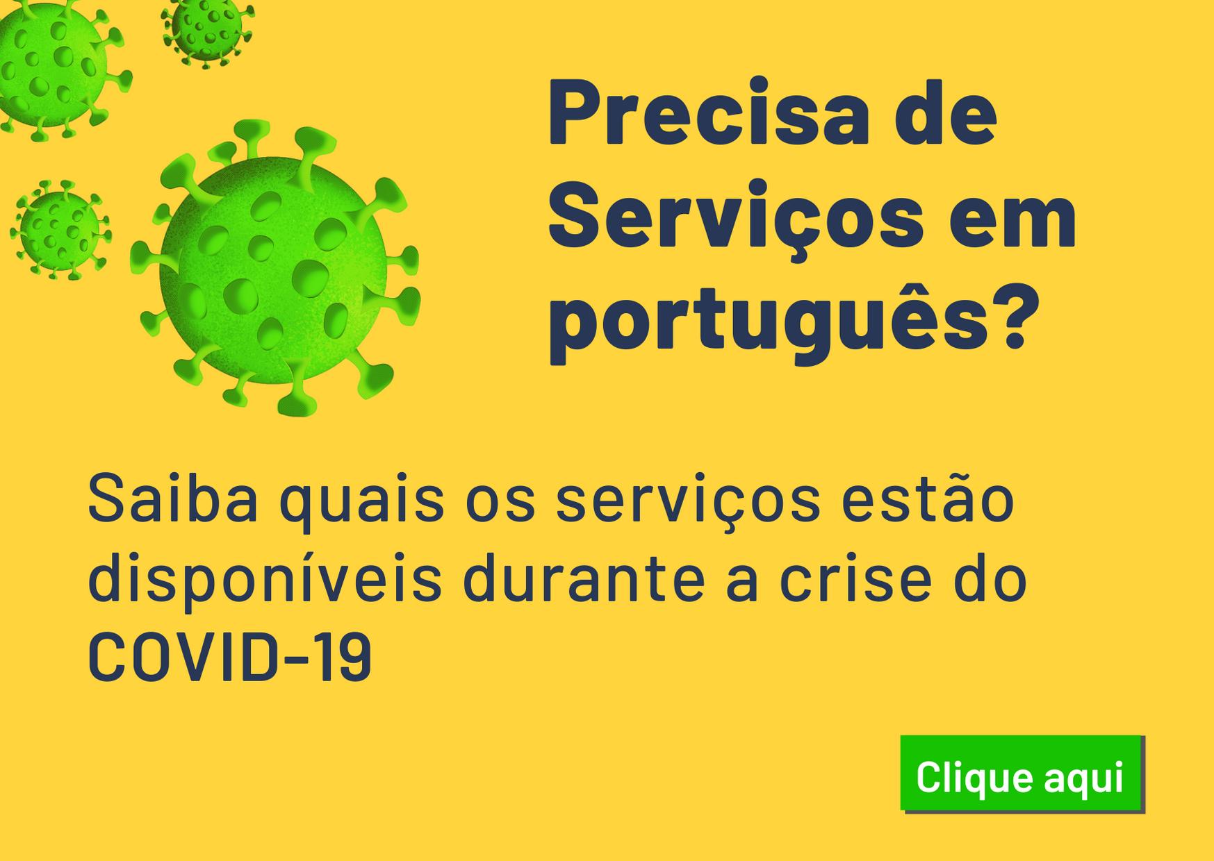 Covid-19-Serviços em português