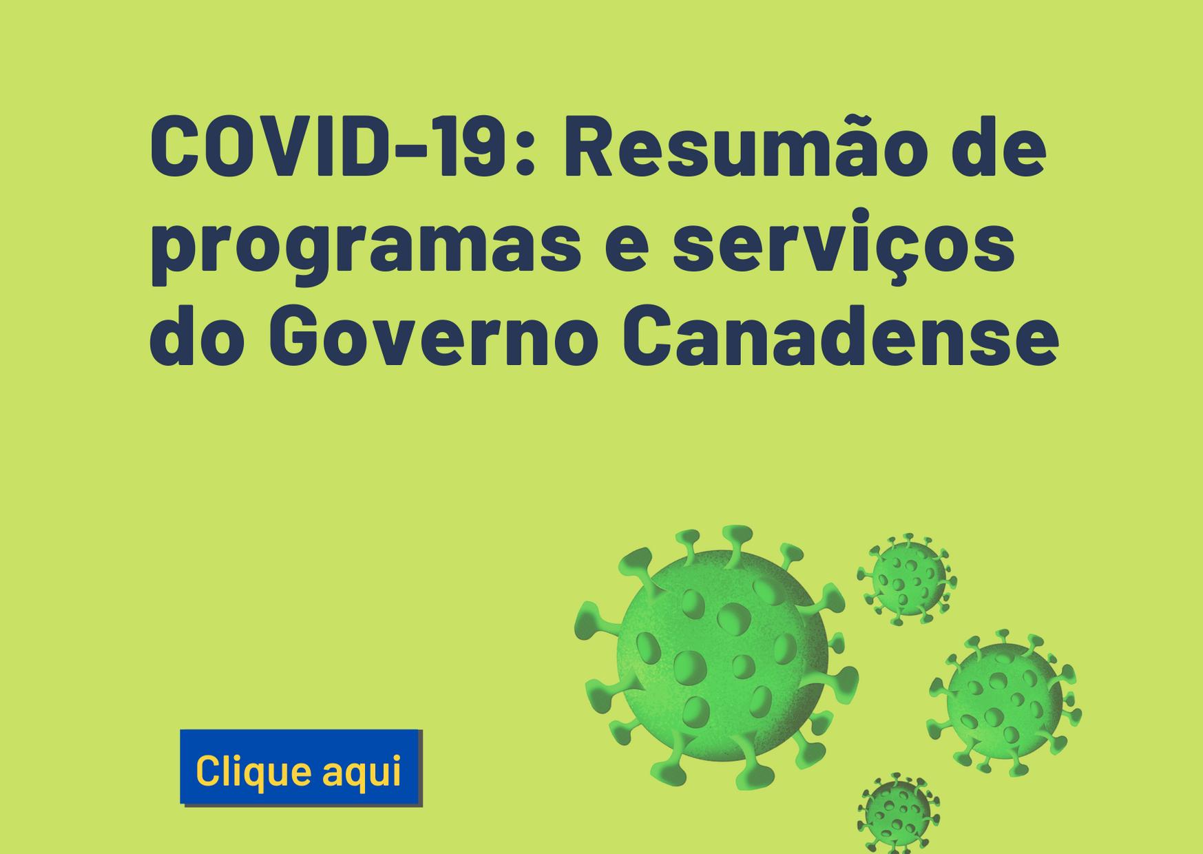 Resumao programas do Canada - Covid-19