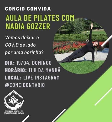 Concid Convida-pilates com Nadia Gozzer