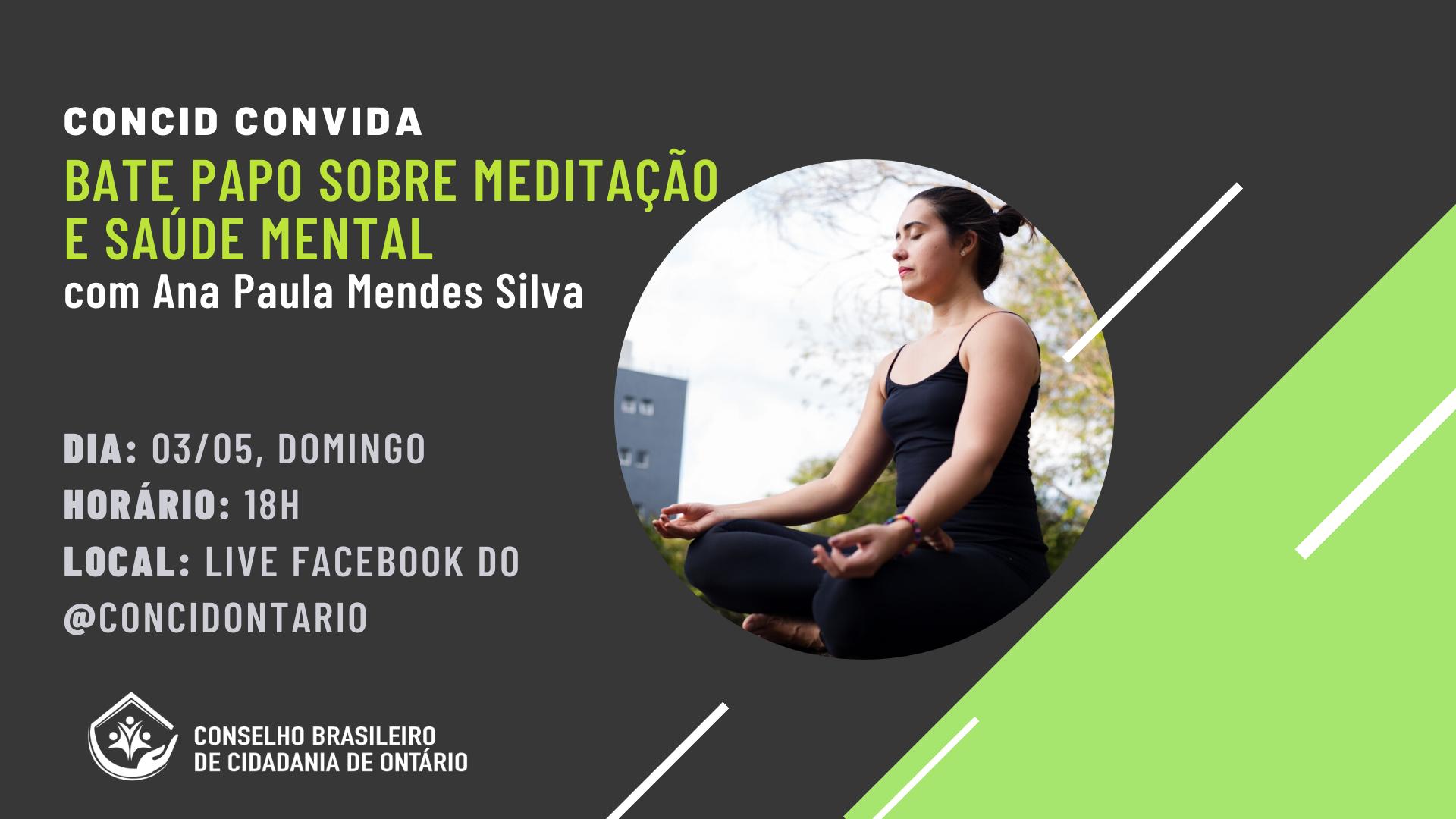 meditacao e saude mental - Concid Ontário - brasileiros no Canada