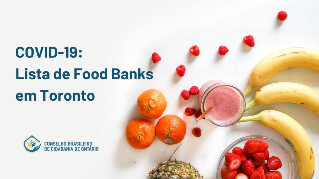 COVID19- Food Banks em Toronto